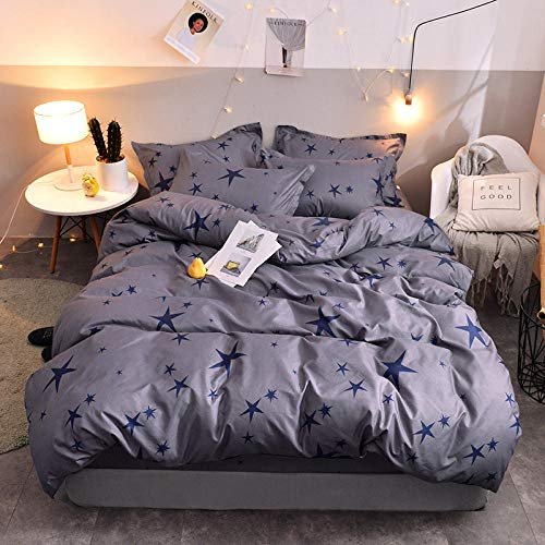 SlimpleStudio Cotton twill bed sheet four-piece set, single and double cotton sheets and duvet cover bedding-A2_2.0m