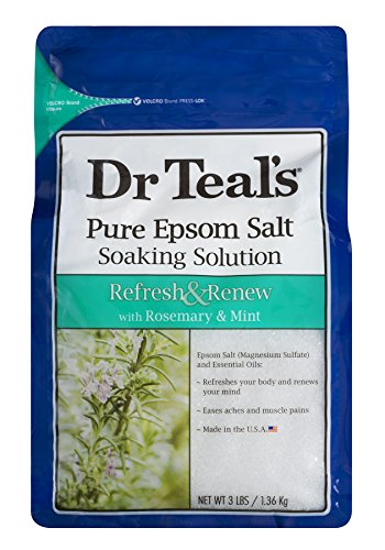 Dr Teal's Epsom Salt Soaking Solution, Rosemary and Mint, 3lbs