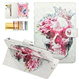7 inc rca tablet case - Techcircle Universal Folio Case for 7 inch Tablet, Slim Lightweight Magnet Stand Cover [Card/Money Slots] for Galaxy Tab 7.0 / Fire 7 / RCA and More 6.5