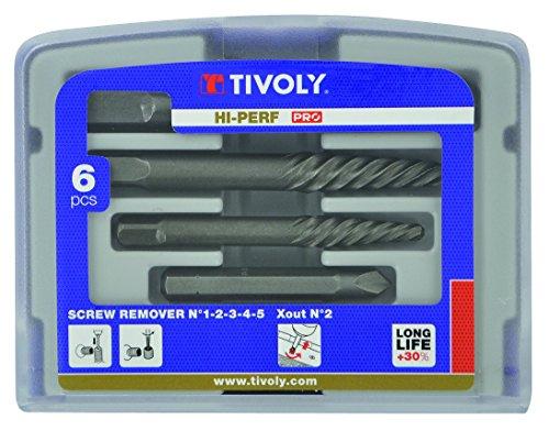 TIVOLY 11111070001 - Juego Extractor de clavos y extractor de tornillos TECHNIC (Envase de 6 pz.)