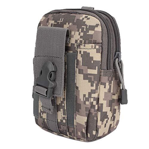 Cinturón táctico para hombre P-o-u-c-h de cintura multiusos táctico bolsa de bolsillo militar para correr al aire libre, senderismo, camping, trekking, caza