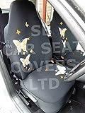 r – passend für Ford Ranger Auto-Sitzbezüge, Rossini hohe Rückenlehne, orangefarbener Schmetterling