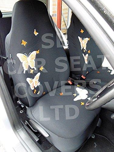 R – Adecuado para Seat Ibiza Cupra Coche, fundas de asiento, Rossini respaldo alto, mariposa naran