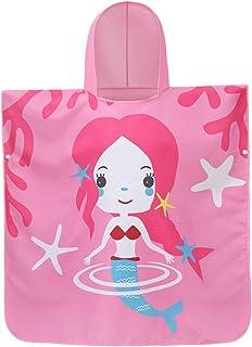besbomig Kids Hooded Beach Bath Towel Microfiber Swim Towel Cloak - Super Soft Printing Shower Robes 70 * 70cm