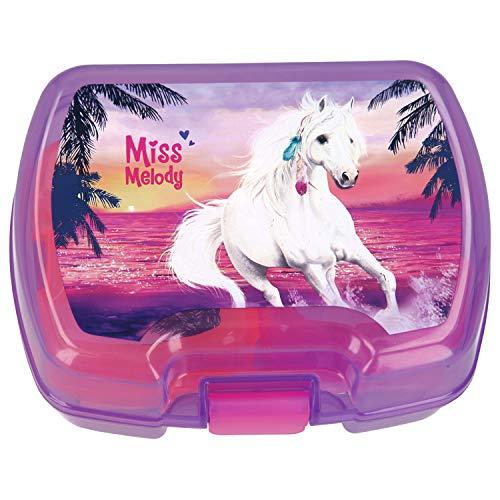 Depesche 7083 Brotdose aus Kunststoff Miss Melody, frei von BPA und Phthalaten, ca. 14 x 17,5 x 7 cm