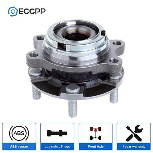 ECCPP Replacement for Pair of 2 New Complete Rear Wheel Hub Bearing Assembly 5 Lugs w//ABS for 2004-2009 Nissan 512292/¡/Á2