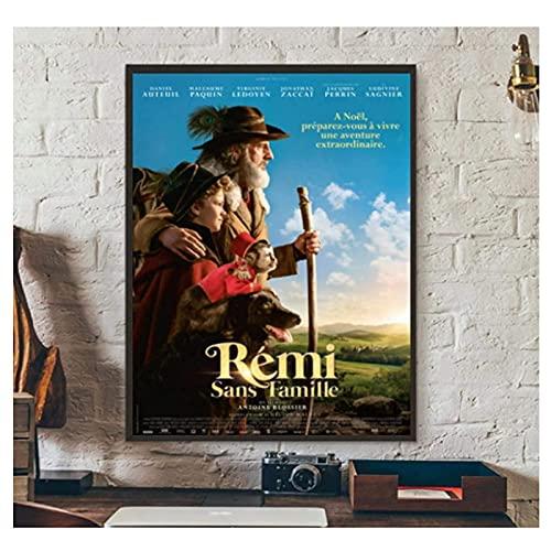Remi sans Famille Film Acteur Daniel Auteuil Classique Photo Impression sur Toile -50x70cmx1pcs -Pas de Cadre