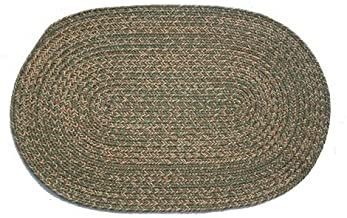 product image for Oval Braided Rug (2'x4'): Melissa Blend- Solid