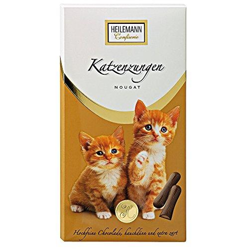 Heilemann Confiserie Katzenzungen Vollmilch Schokolade mit Nougatfüllung 75 g