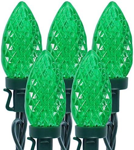 Twinkle Star C9 St Patricks Day String Lights 50 LED 33ft Outdoor Fairy Lights with 29V Safe product image