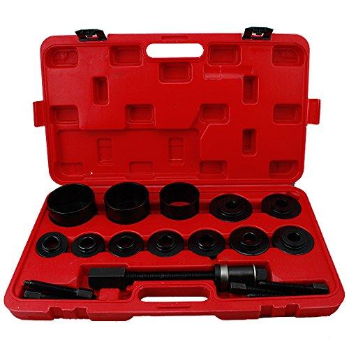 VINGO®Radlager Werkzeug Abzieher Set VW Audi Opel Fiat BMW Ford Alle gängigen Radlagerabzieher Montage 26 tlg