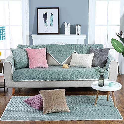 Hoomall Sofabezug Plüsch Anti-rutsch Couch Sofa Abdeckungen Moderne schlichtheit Couch abdeckungen Sofaüberwurf Decke für Ledersofa Sessel L-Form Sofa