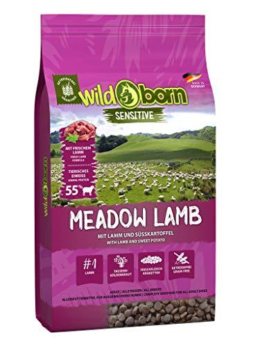 Wildborn Hundefutter getreidefrei Meadow Lamb 15kg für Erwachsene Hunde mit frischem Lammfleisch
