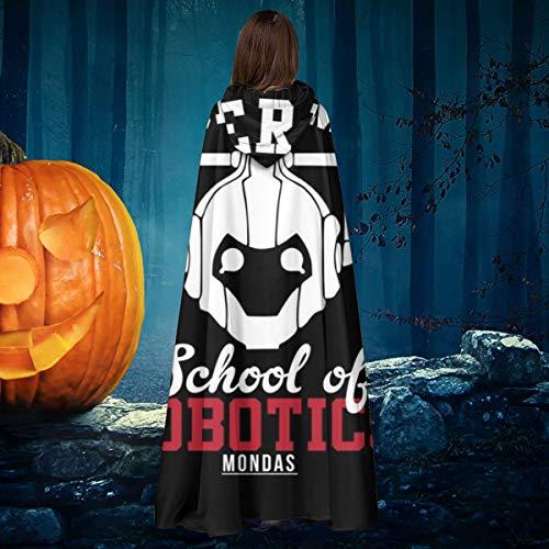 NULLYTG Cyberman School of Robotics Doctor Who Unisex Weihnachten Halloween Hexe Ritter Kapuzenmantel Vampir Umhang Umhang Cosplay Kostüm