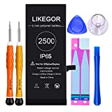 LIKEGOR 2500mAh Battery for iPhone 6S, 46% Higher Capacity Battery Replacement Model A1633 A1688 A1700 with Complete Repair Kits and Instruction (for iP6S Only)