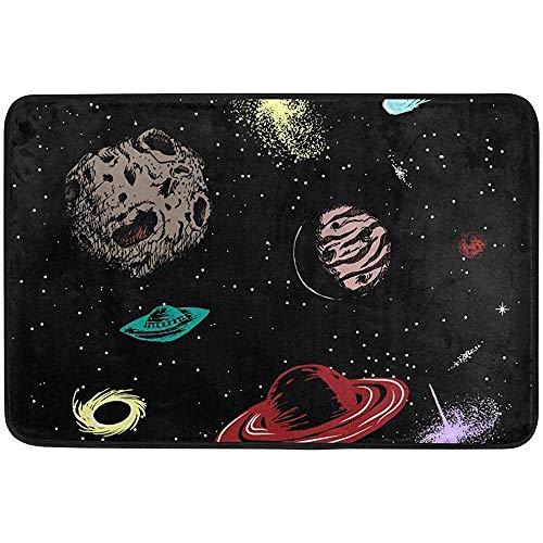 Ogden Moll Teppiche Teppich Planetary Star Universe Moderner Weicher Teppich Für Wohnzimmer, Schlafzimmer, Eingang, Dekorativ, Flur,60x91 cm(36x24 Zoll)