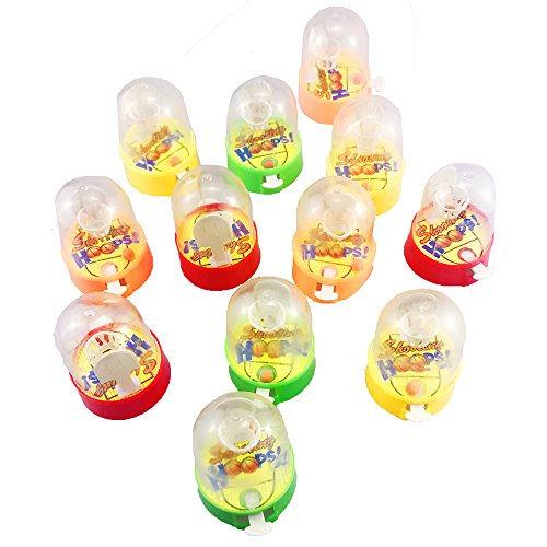 Etmact 12 Pack Mini Finger Basketball Shooting Game, Mini Handheld Desktop Table Basketball Game Toys for Reduce Stress Killing Time Basketball Games Game Time Handheld Game Toys and Games
