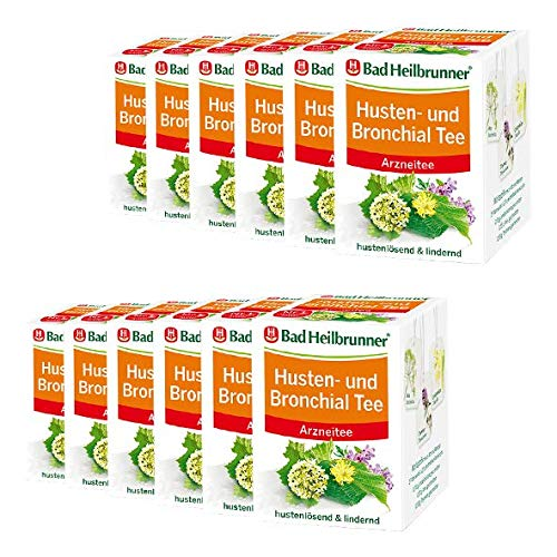 Bad Heilbrunner® Husten- und Bronchial Tee - 12er Pack