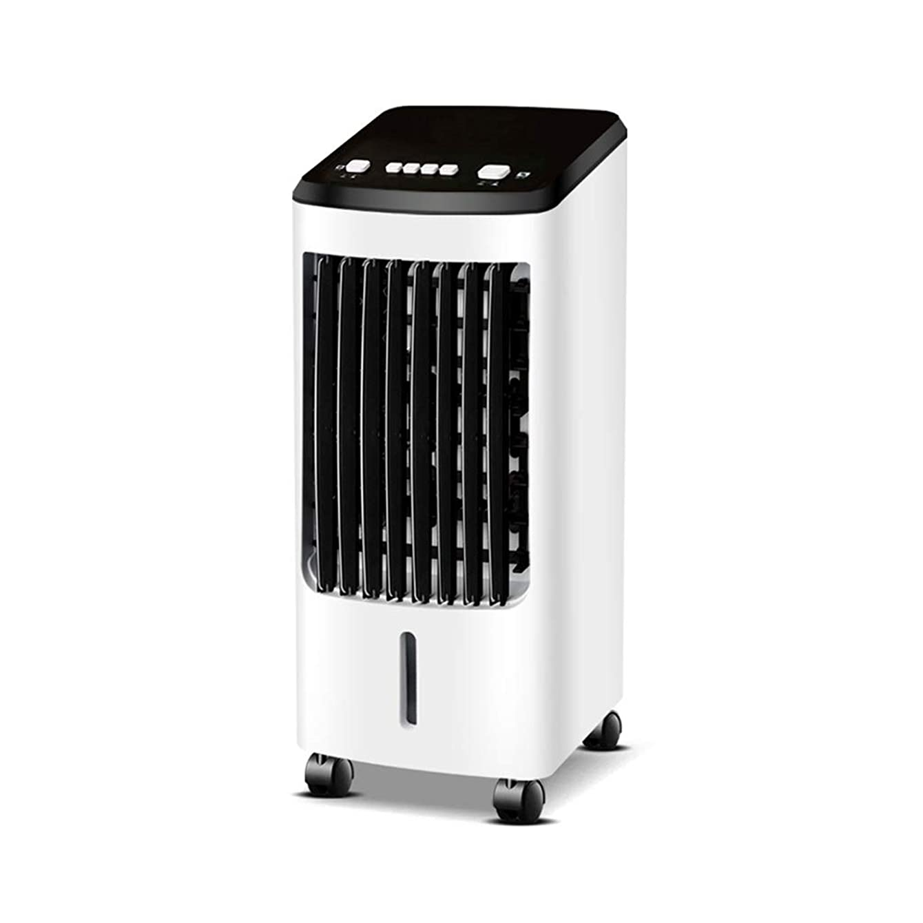 Space coolers Floor Evaporative Cooling Fan with Ice Portable Ultra-Quiet Air Coolers Living Room for Bedroom Rooms White