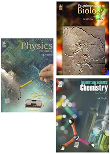 Foundation Science of Class 10 (2019-20) - Physics, Chemistry, Biology (Set of 3 books)