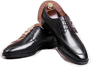 Kirabon Zapatos de Vestir de los Zapatos de los Hombres Zapatos de Cuero Casuales de la Capa Superior con los Zapatos Retro del Caballero (Color : Negro, Size : 42)