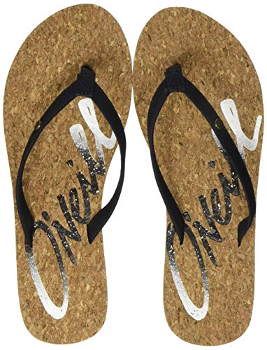 O'Neill Damen FW Logo Cork Sandals Riemchensandalen, Schwarz (Black Out), 41 EU