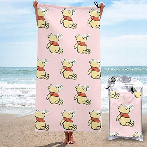 XCNGG Toallas de baño Toallas de baño Winnie The Pooh Quick Dry Bath Towel Microfiber Soft Fluffy Beach Towel Can Be Used As Camping Yoga Gym Pool Bathroom Beach Chair Hiking Bath Towel Quick Drying 2