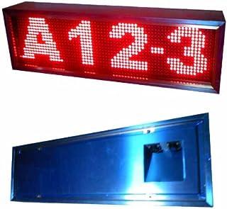 屋外用4文字P10赤単色LED電光掲示板(日本製)