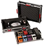 """Gator Cases G-TOUR Series Guitar Pedal board with ATA Road Case; Small: 17"""" x 11"""" (G-TOUR PEDALBOARD-SM) , Black"""