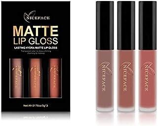 2018 Conjunto de 3 Colores de Pintalabios Mate Larga Duracion Labial Permanente Maquillaje de Profesional para Niñas por E...
