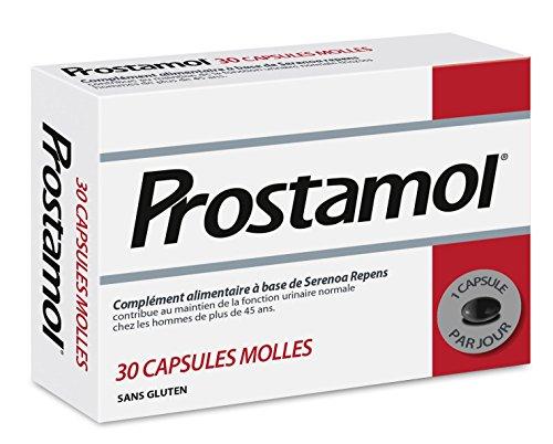 Prostamol-Integratore alimentare a base di Serenoa repens,per funzione urinaria maschile, senza glutine, confezione da 30capsule