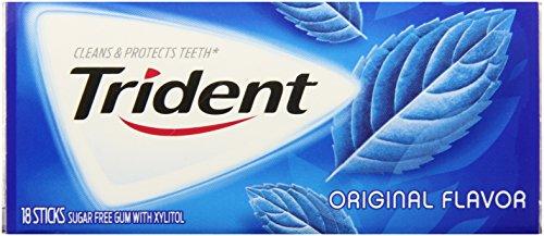 Trident Sugar Free Gum with Xylitol, Original, 14 Count