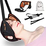 Neck Head Hammock,Cosy Life Portable Cervical Neck Traction Device,Velvet Breathable Foam Relieves Neck Pain Strecher