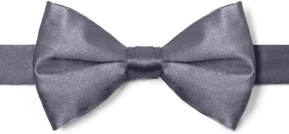 Pretied Bow Tie By Elite Solid In Silk Pre-Tied Bow Tie