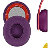 Geekria - Almohadillas de Repuesto para Auriculares Solo3, Solo 3.0, Solo2 Wireless In-Ear Ear Pad/Ear Cushion/Ear Cups/Ear Cover/Earpads Repair Parts (Morado)