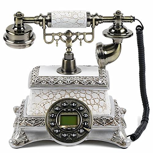 Teléfono fijo vintage retro de resina y metal, 24 x 27 x 16,5 cm, para decoración de mesa, regalo