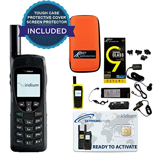 SatPhoneStore Iridium 9555 Satellite Phone Standard Package with Tough Case, Protective Case and Blank Prepaid SIM Card Ready for Easy Online Activation