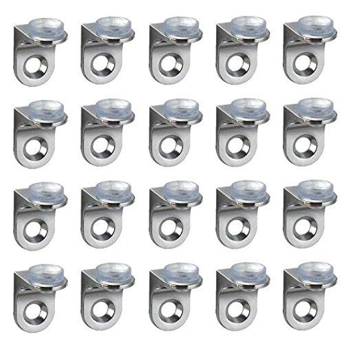 UOOOM 20 Pcs Angle Droit Supports avec Ventouse pour Etagère Verre
