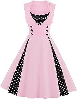 Women's 1950s Vintage Retro Plus Size Polka Dot Swing Cocktail Party Dress
