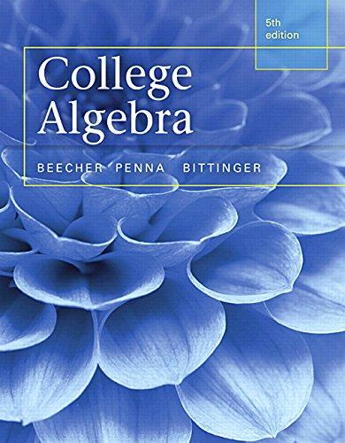 College Algebra 5th Judith Beecher