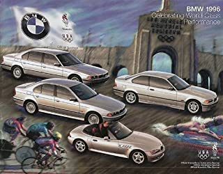 1996 BMW FULL-LINE COLOR SALES BROCHURE - 8-,7-,5-SERIES, Z3 ROADSTER, 3-SERIES COUPE/SEDAN/CONVERTIBLE, M3, 318ti & EXCLUSIVE EDITIONS - USA