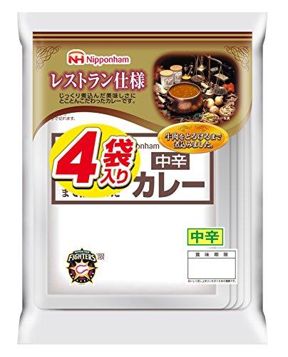 日本ハム レストラン仕様カレー中辛170g×4袋 10セット