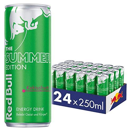 Red Bull Energy Drink, Kaktusfrucht, Summer Edition, 24 x 250 ml, Dosen Getränke 24er Palette, OHNE PFAND