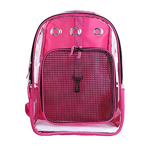 WCJ Pet Carrier Backpack Ademend voor kleine en middelgrote honden en katten, Deluxe Pet Carrier Bag met meshventilatie, veiligheidsfuncties en rugbekleding.
