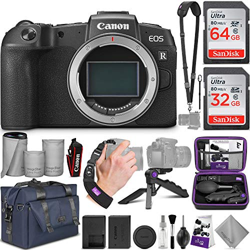 Canon EOS RP Mirrorless Digital Camera Body with Altura Photo Complete Accessory and Travel Bundle