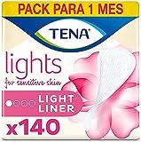 Tena Light Liners, Protege slips Incontinencia, 140 Unidades (5x28)