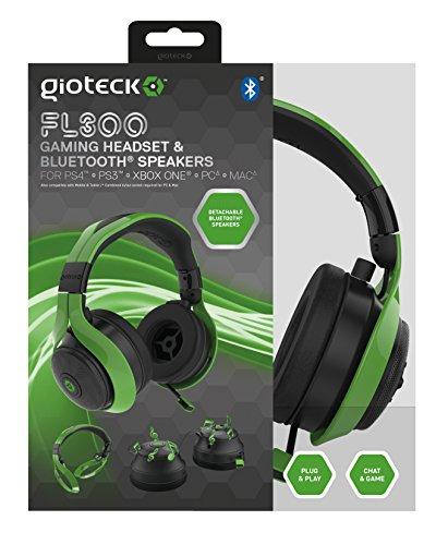 Gioteck - Auricular Flow 300 Bt, Color Verde