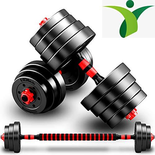 BCBIG Hanteln Set 2in1,verstellbar Kurzhanteln & Langhanteln,Hantelset mit Verbindungsstahlrohr Gewichten Workout Fitness Training Übungsmöglichkeiten für Männer & Frauen,22 lbs (11 lbs*2pcs)