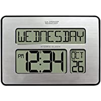 La Crosse Technology 513-1419BLv4-INT Backlight Atomic Full Calendar Clock with Extra Large Digits