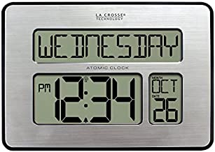 La Crosse Technology 513-1419-INT Atomic Full Calendar Clock with Extra Large Digits - Perfect Gift for the Elderly